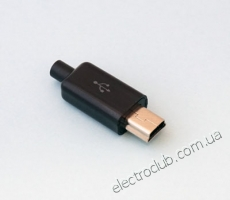 USB B MINI-K BLACK