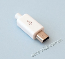 USB B MINI-K WHITE